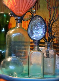 Sea Life Bottle Solder Art Coastal Decor www.etsy.com/shop/tresorbleu