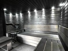 Sauna - harmaan musta