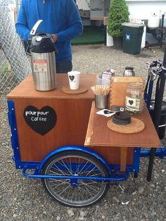 Coffee cycle cart