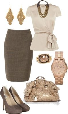 80 Elegant Work Outfit Ideas in 2017 - Are you looking for catchy and elegant work outfits? We all know that there are several factors which control us when we decide to choose something to. -- Leave the earrings and bag out of the equation. Business Outfits, Business Attire, Business Fashion, Office Fashion, Work Fashion, Curvy Fashion, Trendy Fashion, Fall Fashion, Feminine Fashion