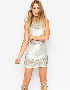 NEEDLE & THREAD Needle & Thread Lace Floral Contour Embellished Mini Dress