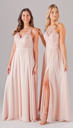 ee4acd72824 Embroidered lace is the newest and best trend! Featured here are Kennedy  Blue bridesmaid dress