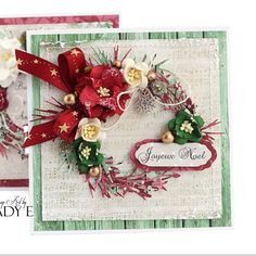 Lady E (@emiliasieradzan)   Another #christmas card with #wreath all flowers #wildorchidcrafts papers #lemoncraft #handmade #cardmaking #uniquegifts #creative   Intagme - The Best Instagram Widget