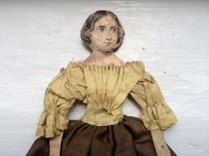 Victorian Cloth Dressed Paper Doll by MausandFigge on Etsy