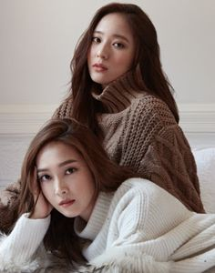 Jessica and Krystal for Cosmopolitan magazine's November issue Krystal Jung, Jessica & Krystal, Jessica Jung, Kpop Girl Groups, Kpop Girls, Fashion Line, Fashion Beauty, Kpop Fashion, Girls Generation Jessica