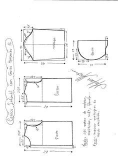 Esquema de modelagem de Jaqueta Infantil com Capuz tamanho 12.