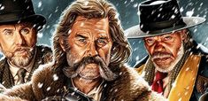 An incredible piece of artwork by Jason Edmiston for Quentin Tarantino's The Hateful Eight. The piece is printed on x paper and will be [. Jason Edmiston, The Hateful Eight, Pop Culture Art, Quentin Tarantino, Book Art, Kurt Russell, The Incredibles, Cool Stuff, Revolution