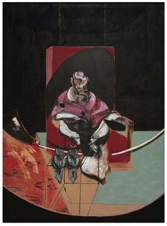 Francis Bacon. Figure with Two Owls, Study for Velazquez (1963) - San Francisco Museum of Modern Art