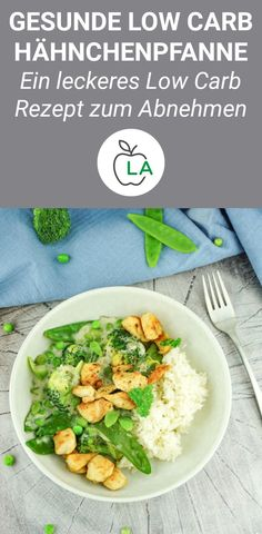 Green Low Carb Chicken Pan - Healthy, low in calories and delicious- Grüne Low Carb Hähnchenpfanne – Gesund, kalorienarm und lecker This delicious chicken pan is one of the best and … - Low Calorie Vegetarian Recipes, Chicken Breast Recipes Healthy, Low Carb Dinner Recipes, Chicken Recipes, Healthy Recipes, Pork Recipes, Diet Recipes, Healthy Groceries, Yum Yum Chicken