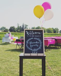 Wedding bride bridal baby shower floral outdoor marker ink chalk script hand lettering calligraphy outdoor balloons rustic Baby Shower Chalkboard, Marker, Wedding Bride, Hand Lettering, Script, Balloons, Calligraphy, Ink, Rustic