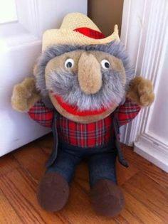 SHOTGUN RED plush STUFFED doll AUTOGRAPHED straw hat TNN NASHVILLE NOW rare!