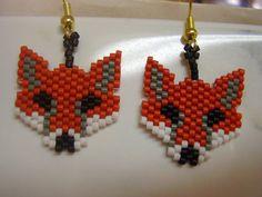 Native American Design Beaded Fox Animal by BeadedCreationsetc, $15.00