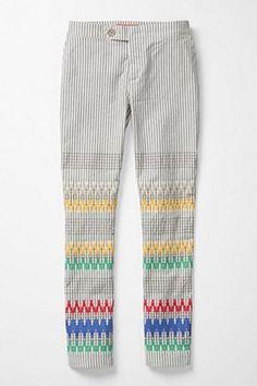 Adorable stitchy pants!