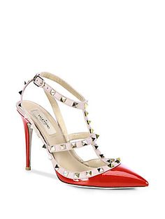 Valentino Patent Leather Rockstud Slingback Pumps...if these shoes don't make you excited to be a woman then you're doing something wrong!
