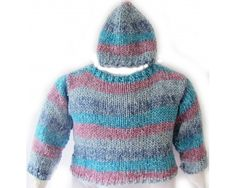 KSS Pastel Colored Cotton Sweater and Hat Set (2 Years)