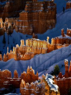 Photographer: ©Dennis Frates, NATURE CATEGORY FINALIST, 2012 World Open of Photography, Photo Description: An early snow in Bryce Canyon National Park allowed me to capture images here that I had never seen before during previous trips. The soft lighting on the rocks you see here is mostly reflected light off other colorful rocks, which is what gives it an ethereal feel.