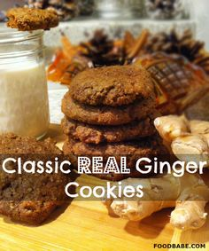 Classic Real Ginger Cookies - http://foodbabe.com/2014/12/19/ginger-cookies/