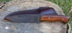 Raymond Coon Damascus Knife with 5 inch blade. (9 ounces including sheath)