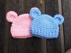 (4) Name: 'Crocheting : 'Baby Bear' Simple baby beanie
