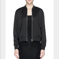 T by Alexander Wang: Silk Twill Bomber Super cute silk bomber jacket. New with tags. Price is negotiable, feel free to make an offer  T by Alexander Wang Jackets & Coats