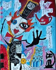 STOP! TEA TIME, Poete Maudit, outsider art NEO expressionism, CANADIAN