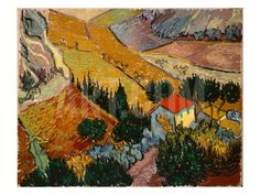 Landscape with House and Ploughman, 1889 Giclee Print by Vincent van Gogh at Art.com
