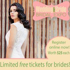 BRIDES ENTER FREE! https://weddingandbrideexpo.com.au/