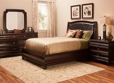 Wall Street 4 Pc Queen Leather Platform Bedroom Set W Storage Bed Bedroom Sets Raymour And