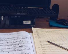A quick glimpse of one tiny part of what I had to do for my Masters in composition. Here I took a quick brake from orchestrating a piano piece. #instaclassical #musician #musiclife #composer #sheetmusic #musicphotography #practice #vsco #vscocam #vscogood #ljubljana #musica #instamusic #perspective #composing #work #arrangement #choir #musical #sheetmusic #computer #dell #piano #orchestration #computer #musicacademy #study #masters #prokofiev by ula_umetniska
