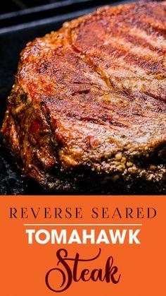 Quick Beef Recipes, Pellet Grill Recipes, Grilled Steak Recipes, Grilling Recipes, Yummy Recipes, Dinner Recipes, Skillet Recipes, Tomahawk Steak Recipe, Grilled Fruit