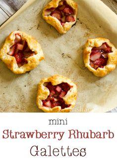 mini strawberry rhubarb galettes # strawberry # rhubarb # dessert
