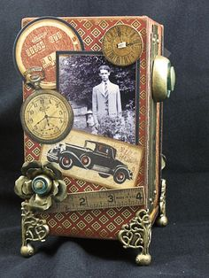 altered cigar box by Sherry Cheever