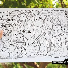 #inktober Day 11 - Pokémon #inktober2016 Doodle Coloring Page