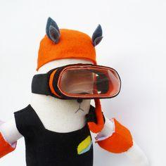 Ooak Wolf doll / Julie de Gruchy East, via Etsy
