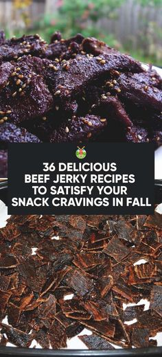 36 Delicious Beef Jerky Recipes to Satisfy Your Snack Cravings - Meat Recipes Beef Jerky Marinade, Beef Jerkey, Smoked Beef Jerky, Bacon Jerky, Venison Recipes, Meat Recipes, Cooking Recipes, Cooking Games, Dehydrated Food Recipes