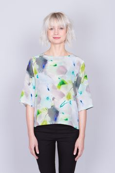 Tope Suffix Off Shore︱Silk Blouse by Minimarket SS15︱See more at www.grandpa.se