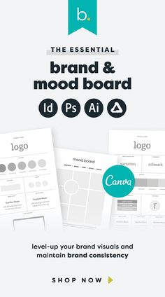 An essential for every solopreneur to maintain brand consistency. Clarify your brand standards, level-up your brand visuals and build trust with your audience with these brand board templates, featuring your logo, colour palette, typefaces, brand imagery, etc.