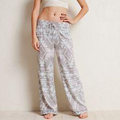 Aerie Wide Leg Sleep Pants ($35) ❤ liked on Polyvore featuring intimates, sleepwear, pajamas, silver, aerie pajamas, aerie sleepwear and aerie pjs