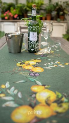Pritty's Table Runner with our hand painted lemon and olive watercolour art. Our rockstar watercolour artist is Lume Hamilton. We have a wide variety of seamless patterns and design elements that we apply to almost any product and fabric. We are situated in the beautiful Garden Route and ship world wide. #fabric #lemon #patterndesign @wowcreatives #photography @wow_darrell #homedecor #kitchendecor #tablerunner Watercolour Art, Watercolor Illustration, Fabric Design, Pattern Design, Custom Printed Fabric, Hand Painting Art, Cushion Fabric, Garden Furniture, Beautiful Gardens