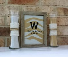 Personalized Rustic Barn Wood Wedding Sand Ceremony Frame Set with FREE Personalization, Unity Set, Sand Shadow Box Frame on Etsy, $49.99