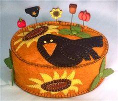 I love to crow pincushion kit