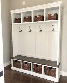 THE PENNSYLVANIA 4 section Entryway bench with storage/entryway furniture/coat rack/hall tree/mudroom/mudroom bench/shoe/coat/storage Entryway Bench Storage, Entry Bench, Bench Mudroom, Shoe Bench, Wall Storage, Porch Bench With Storage, Mudroom Cubbies, Storage Spaces, Hall Tree Bench