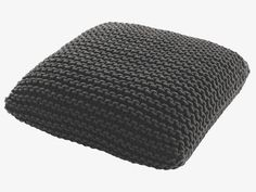 KNOT Large charcoal floor cushion