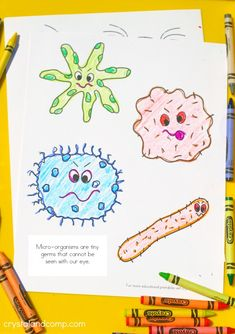Free  kids color pages about sick days and spreading germs