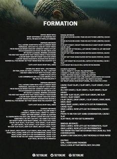 Fomation Lyrics