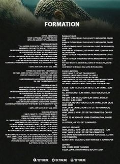 Fomation Lyrics