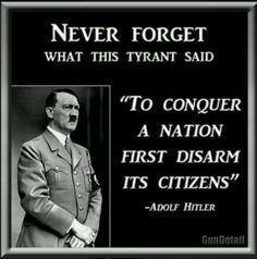 To Conquer a Nation, First Disarm it's Citizens