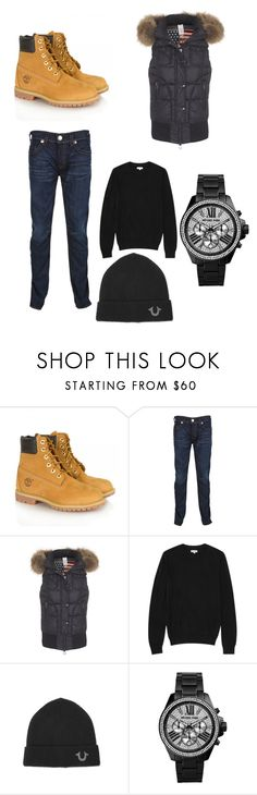 """""""Untitled #5"""" by kvthacriminal ❤ liked on Polyvore featuring Timberland, True Religion, Reiss and Michael Kors"""
