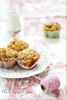 Cakes crumbles rhubarbe et sarrasin (sans gluten) - Rhubarb crumble cakes
