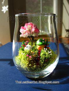 Fairy house Miniature Garden Cottage Moss Terrarium by phoenixchiu
